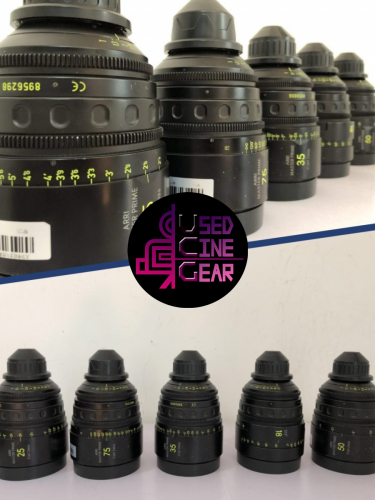 Used Arri/Zeiss Master Prime Lens Set 5pcs
