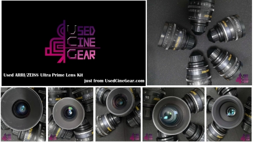 Used ARRI/ZEISS Ultra Prime Lens Set 5pcs 16/24/32/50/85mm T1.9